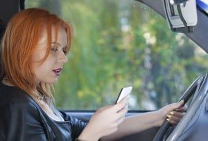 Teen texting while driving
