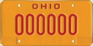 DUI license plate Ohio