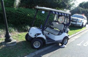drunk driving golf cart